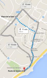 Trajet Nyon gare à Villa Niedermeyer (1)